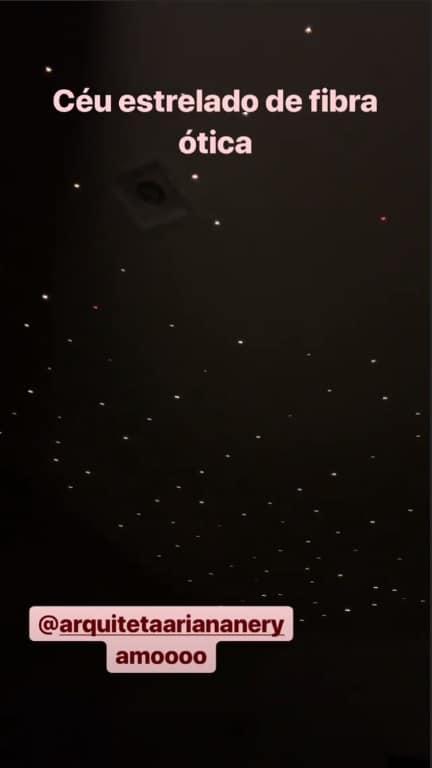 """Veja o """"céu estrelado"""" do quarto da filha de Thaeme"""