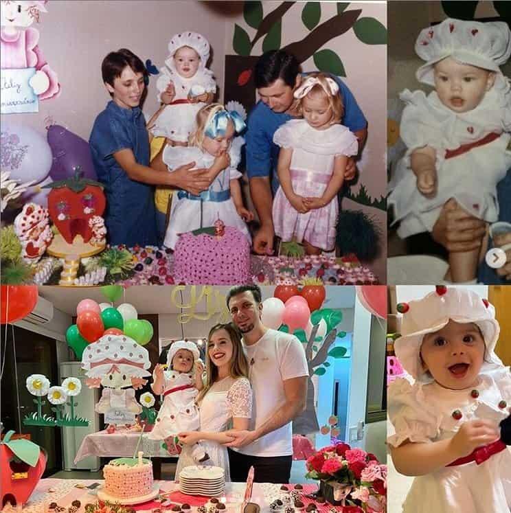 Festa de um ano da bebê de Thaeme