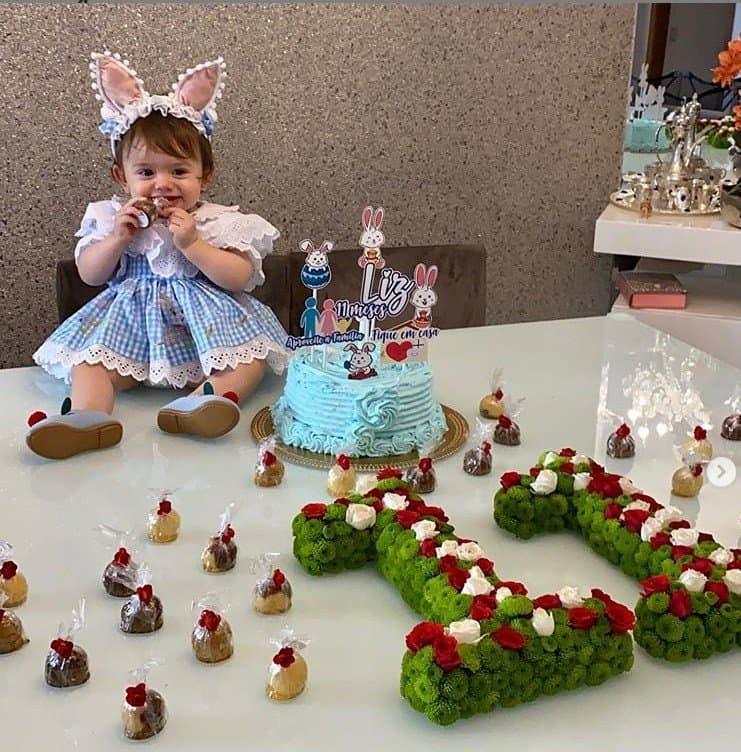 A festa de 11 meses da filha de Thaeme