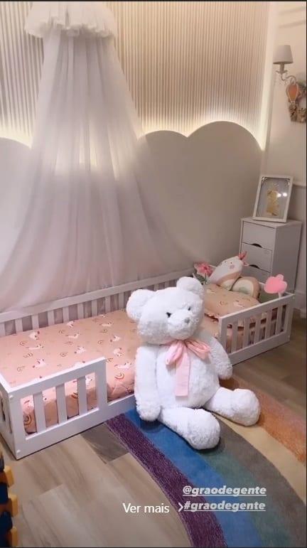 O quarto da filha da cantora Thaeme