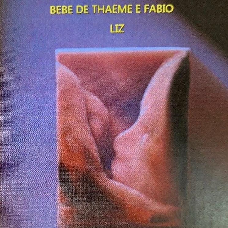 Publicação do ultrassom da pequena Liz, filha da Thaeme Mariôto