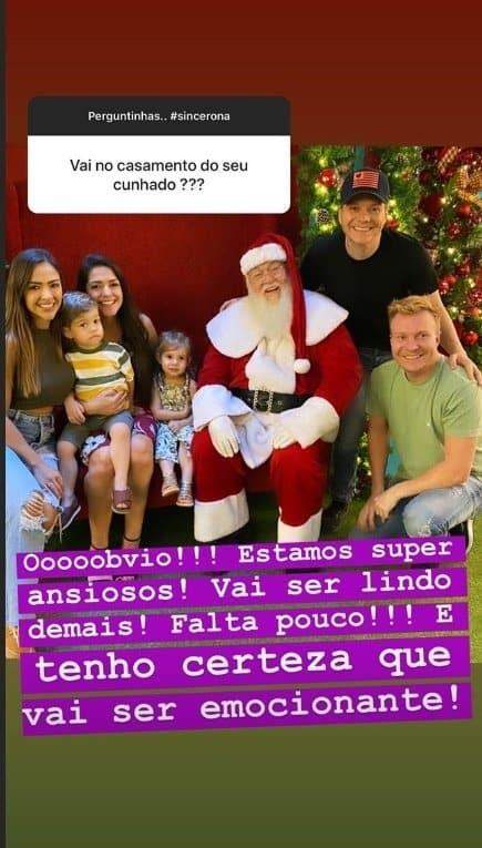 Thaís Fersoza apareceu com os filhos, o marido e os cunhados