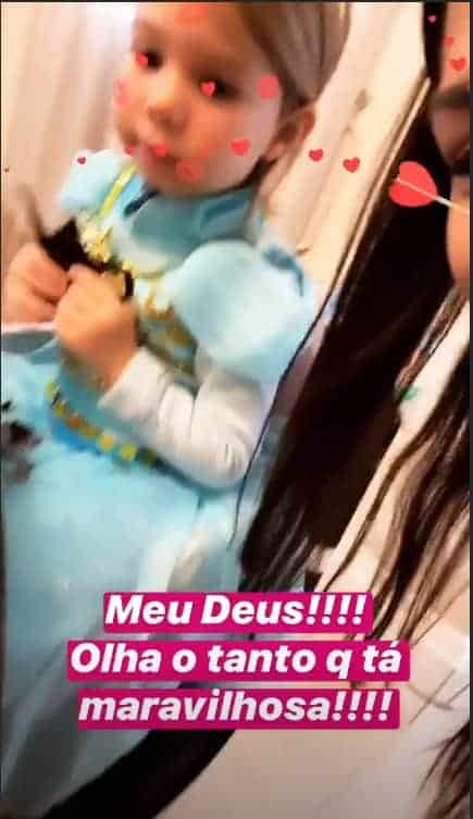 Thaís Fersoza mostrou Melinda na sua festa