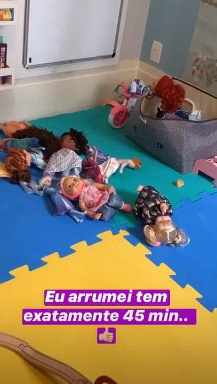 As bonecas da filha da atriz Thaís Fersoza