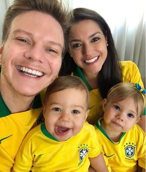 Família Teló na torcida pela Seleção