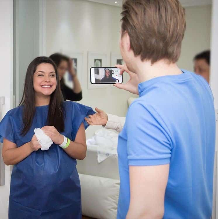 Thaís Fersoza pouco antes do parto de Melinda