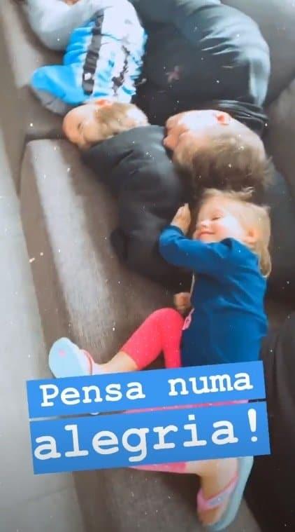 Filhos de Thaís Fersoza com o pai