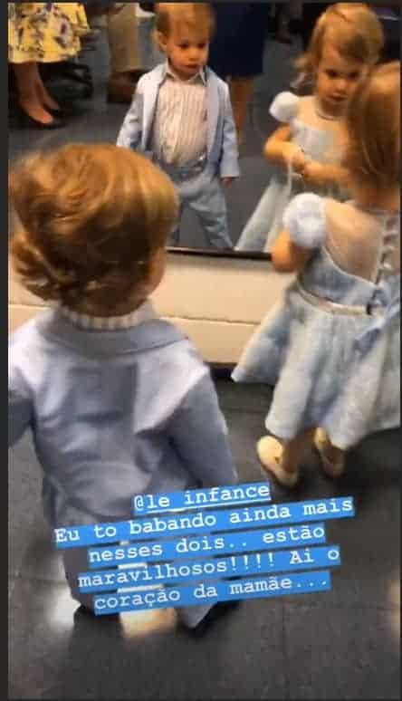 Teodoro e Melinda no show do Roberto Carlos