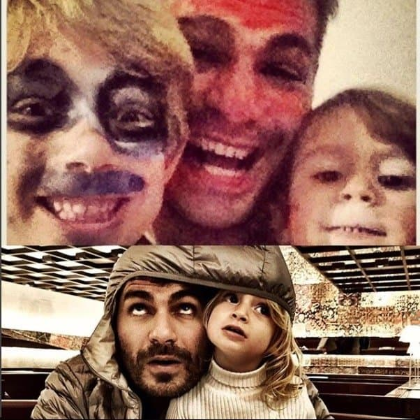 Thiago Lacerda com seus filhos Cora e Gael