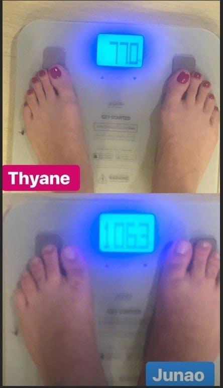 Thyane Dantas, esposa de Wesley Safadão, revela peso