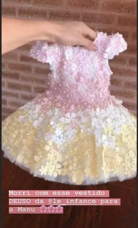 Vestido que a filha de Ticiane Pinheiro usou na festa