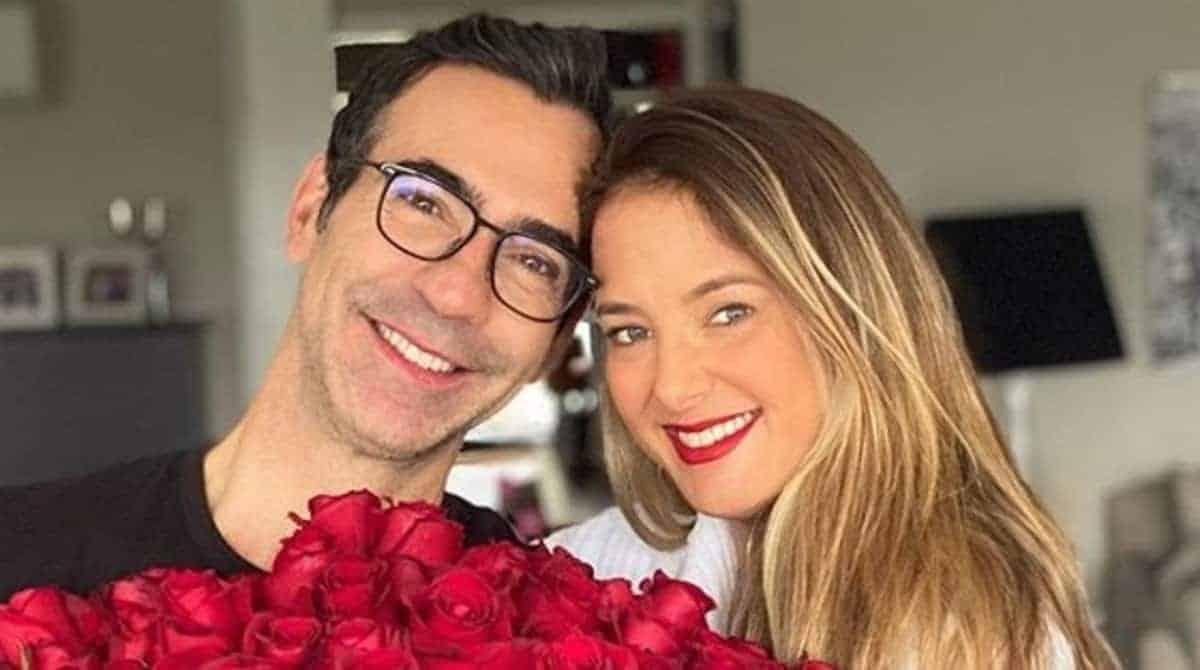 César Tralli e Ticiane Pinheiro comemorando os 11 meses da filha