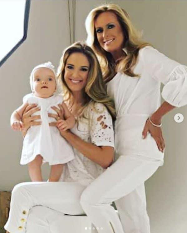 Ticiane Pinheiro com Rafa Justus e sua mãe