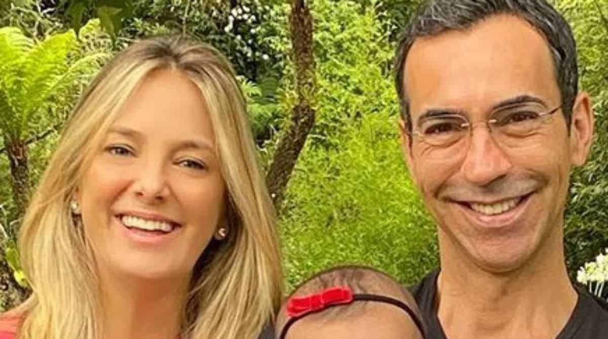 Ticiane Pinheiro e César Tralli mostraram sua bebê