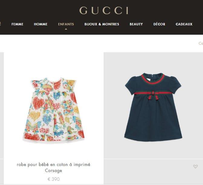 Os vestidinhos de bebê da Gucci escolhidos por Faustão