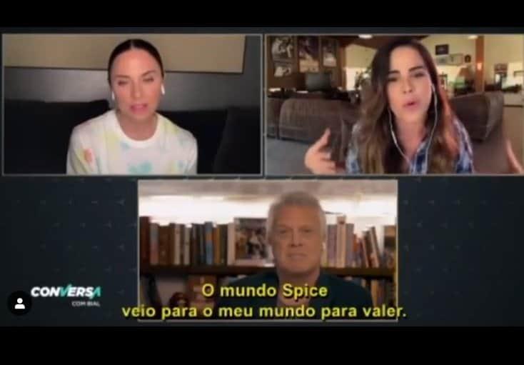 Wanessa Camargo no programa Conversa com Bial