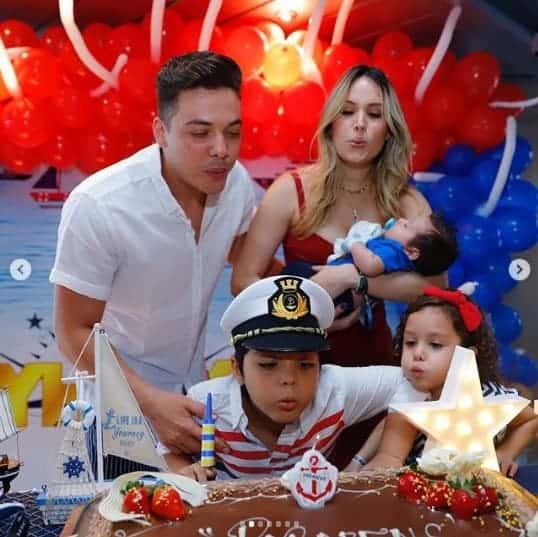 Detalhe da festa surpresa para Yhudy, filho do cantor Wesley Safadão