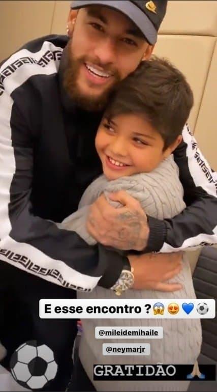 Filho de Mileide Mihaile e Wesley Safadão com Neymar Jr