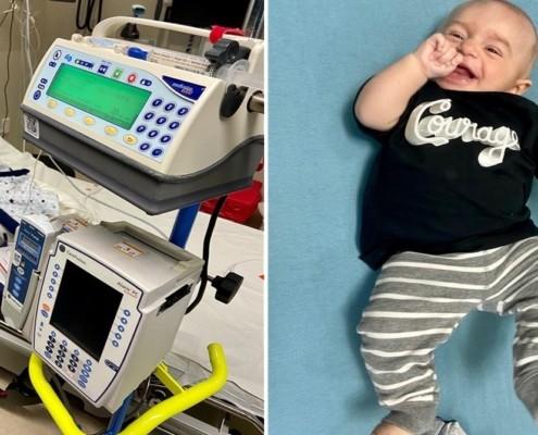 O bebê que nasceu sem sistema imunológico passou um bom tempo internado