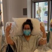 A mulher estava grávida quando testou positivo para o COVID-19