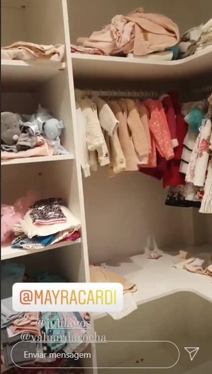 O closet da filha de Mayra Cardi, a pequena Sophia