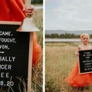 A menina passou 22 semanas lutando contra o câncer