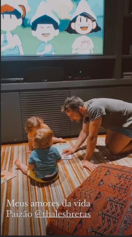Marido de Paulo Gustavo com os bebês deles