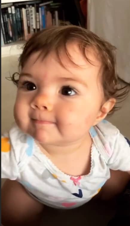 A filha de Rafael Vitti, a pequena Clara Maria