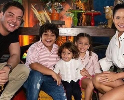 Wesley Safadão celebrou o aniversário do filho