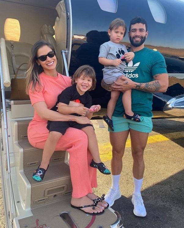 Andressa Suita e Gusttavo Lima na última viagem em família antes de se separarem