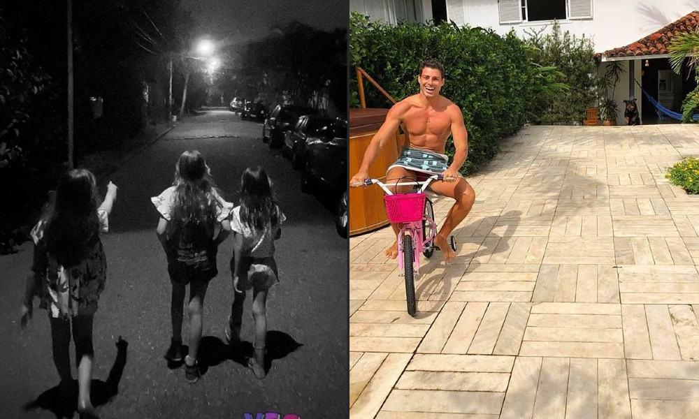 Filha de Cauã Reymond e Grazi Massaferano condomínio do pai e o ator da bicicleta dela