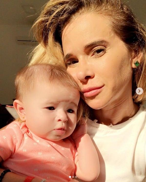 Dany Bananinha com a filha Lara