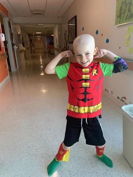 Os dois doadores salvaram a vida do menino