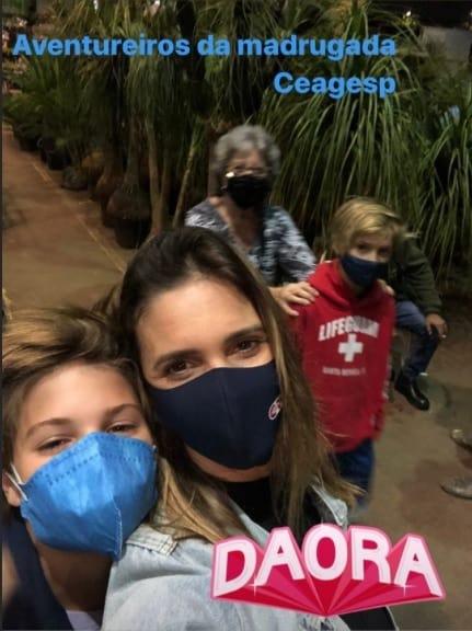Fernanda Lima com os filhos gêmeos com Rodrigo Hilbert