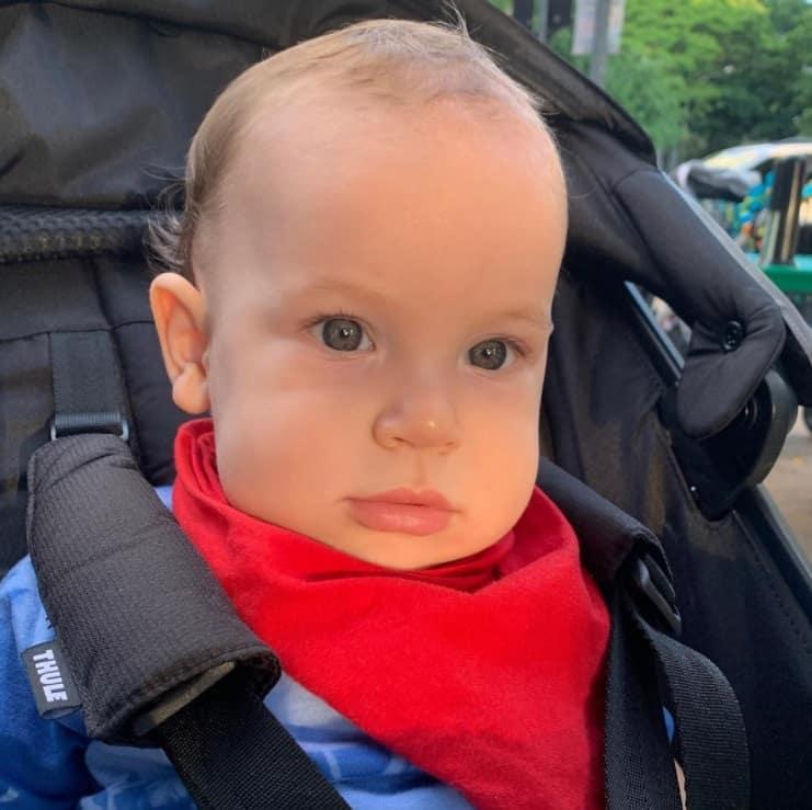 O filho da atriz Giselle Itié, o pequeno Pedro Luna
