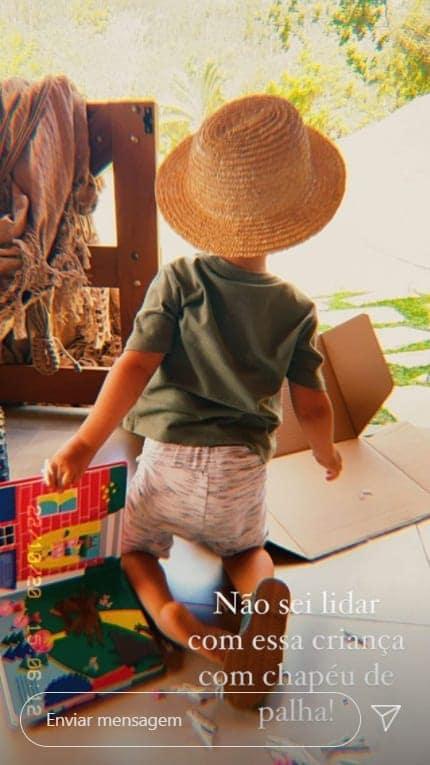 O menino Otto, filho do músico Junior Lima