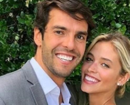 Kaká e Carol Dias mostraram o rosto de sua bebê