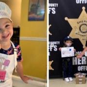 A menina de 3 anos já fez mais de 1.000 biscoitos