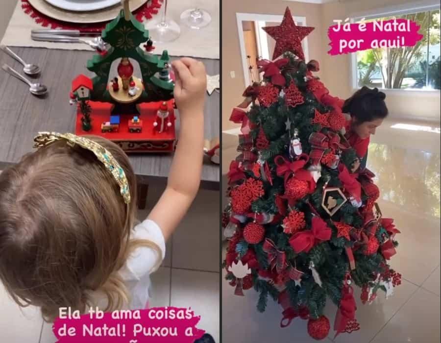 Decoração de Natal na casa de Thaís Fersoza
