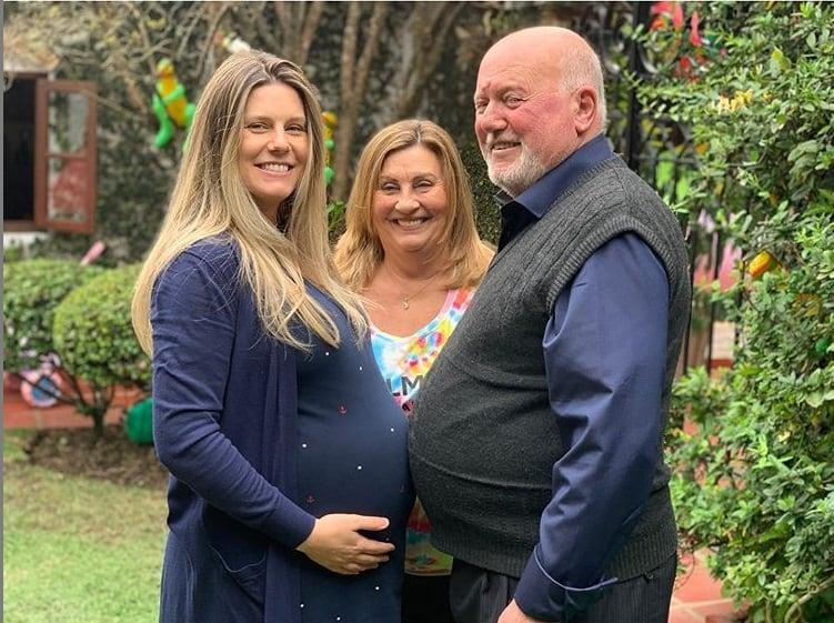 Daiana Garbin prestes a dar à luz sua filha com Tiago Leifert