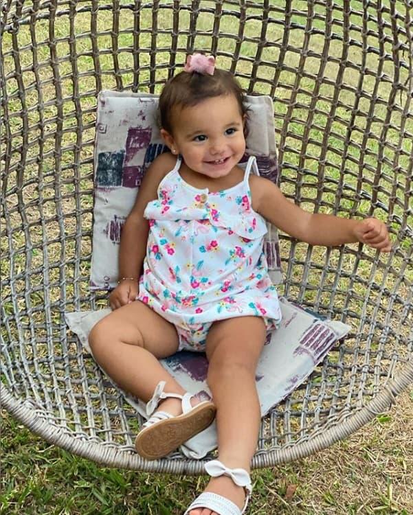 A pequena Manuella, filha da apresentadora Ticiane Pinheiro