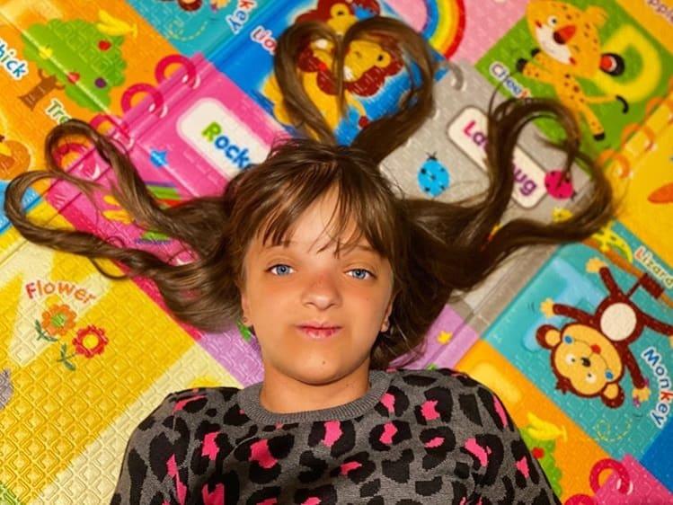 Ticiane Pinheiro mostrou esta linda foto da filha mais velha, Rafinha Justus