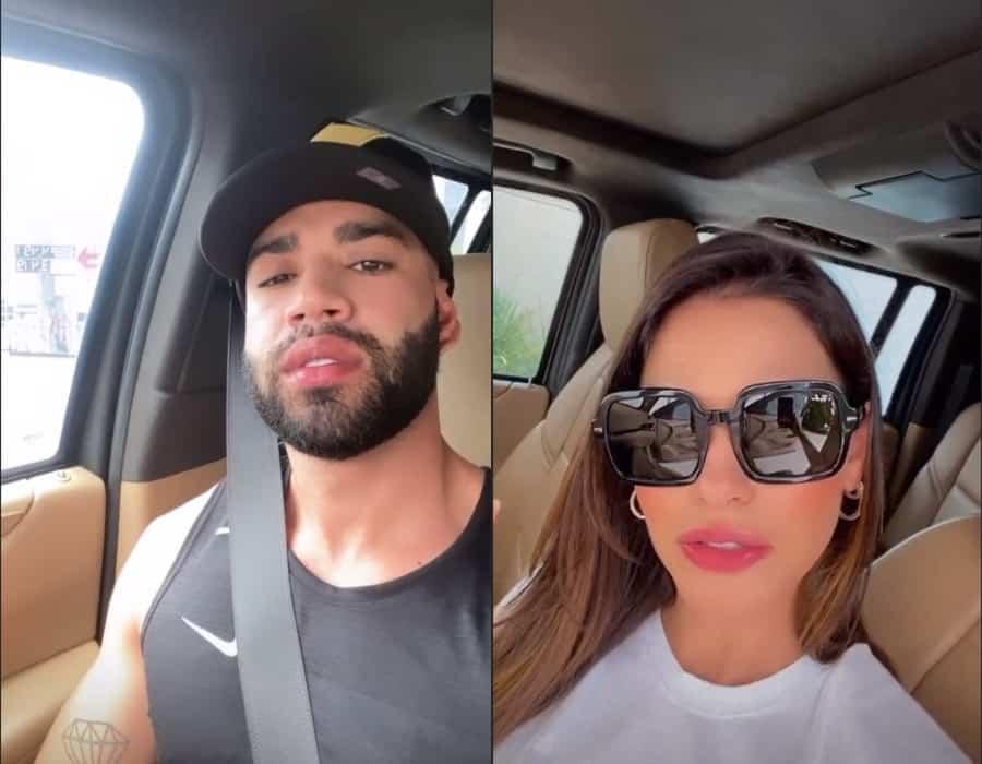 Gusttavo Lima e Andressa Suita levantaram suspeitas com imagens