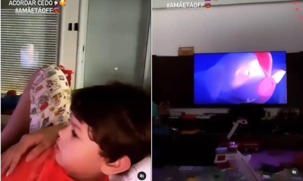 Andressa Suita mostrou o quarto de seu caçula Samuel