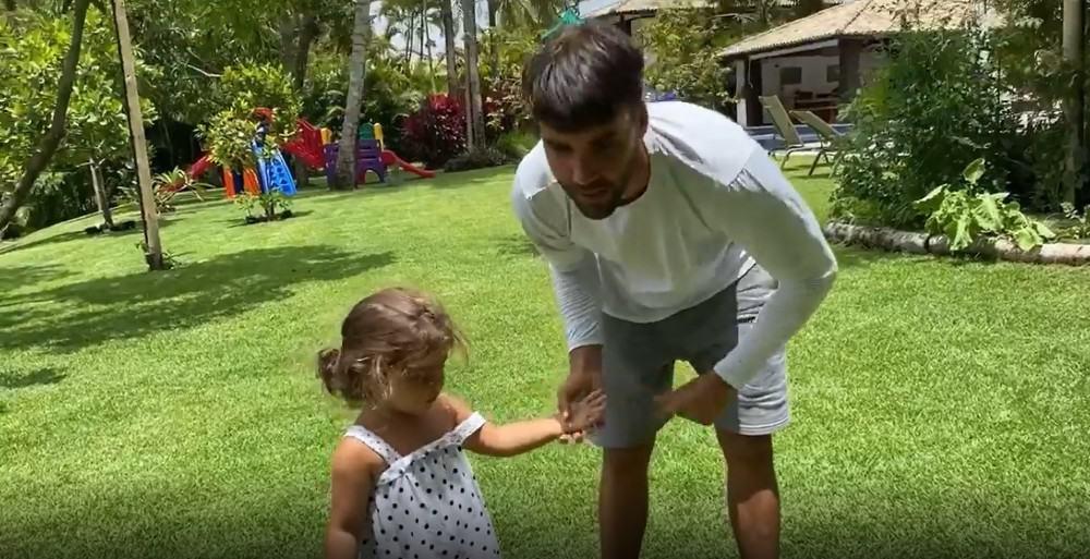 Daniel Cady com a filha com Ivete Sangalo