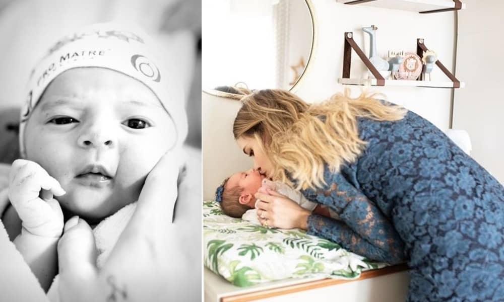A bebê do ex-jogador Kaká com a modelo Carol Dias