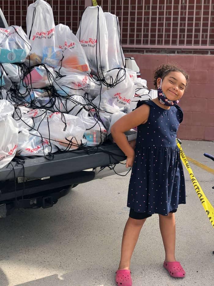 A menina abriu mão de seus presentes de aniversário para ganhar mais doações
