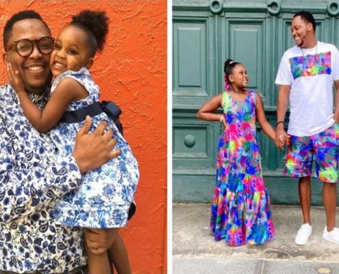 O pai começou a costurar quando Ava tinha 3 anos