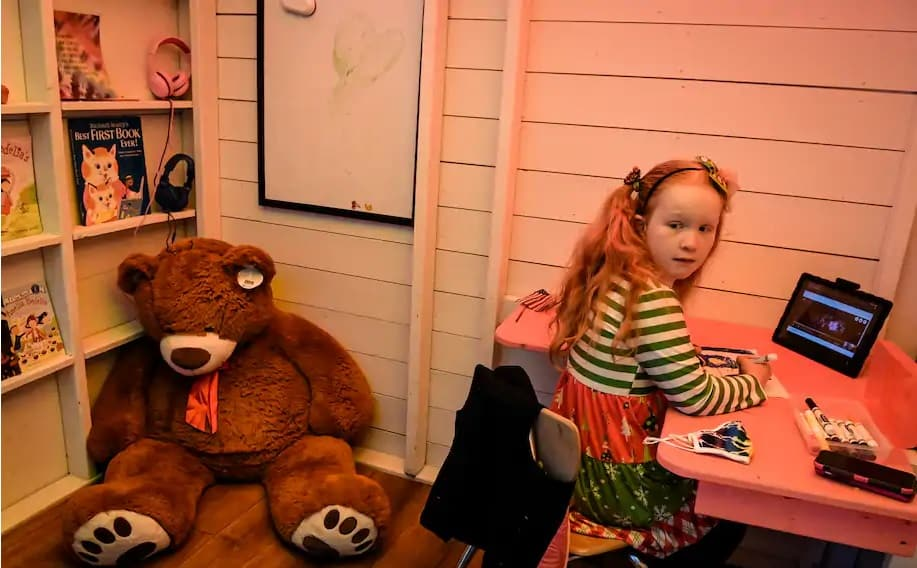 A filha de 8 anos estava com dificuldades para estudar