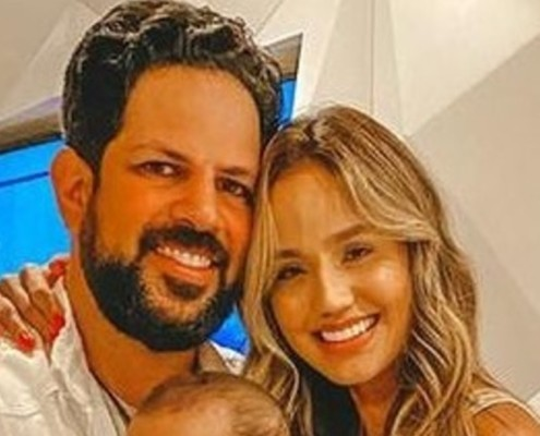 Sorocaba e Biah Rodrigues mostraram a consagração do filho